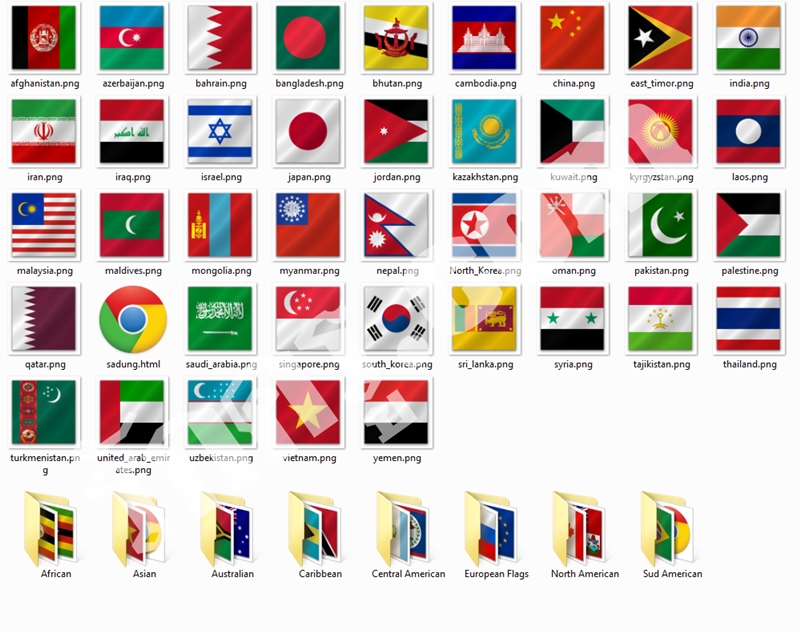 ธงชาติประเทศต่างๆทั่วโลก