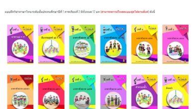 แบบฝึกวิชาภาษาไทย ระดับชั้นประถมศึกษาปีที่ 1 มีทั้งหมด 12 บท