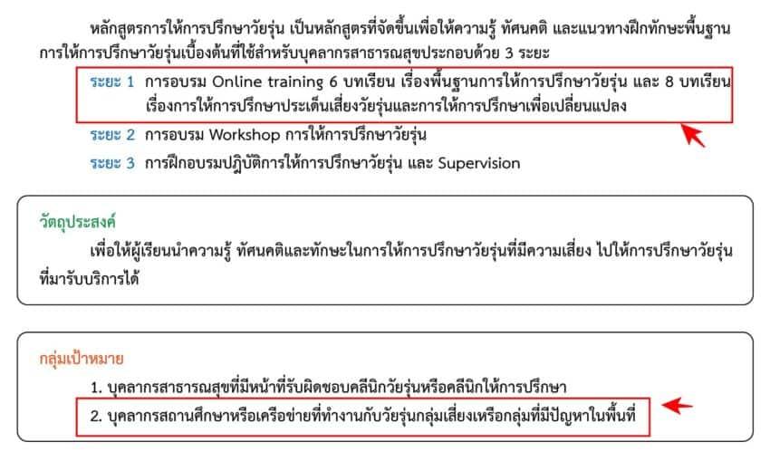 อบรมออนไลน์ หลักสูตรการให้คำปรึกษาวัยรุ่น มีใบประกาศนียบัตร (10ใบ)