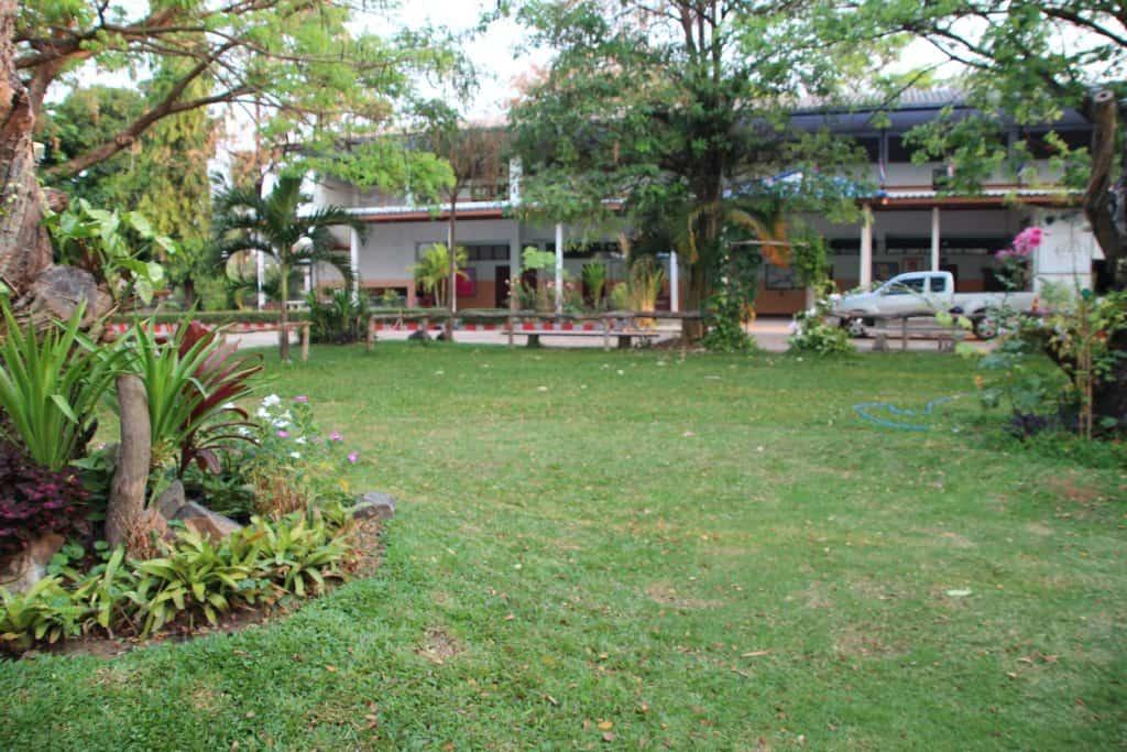 สวนสวยในโรงเรียน