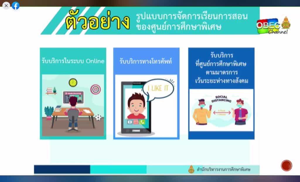 ตัวอย่าง แนวทางการจัดการเรียนการสอนของโรงเรียนในสังกัด สพฐ. ในสถานการณ์โควิด ปีการศึกษา2563