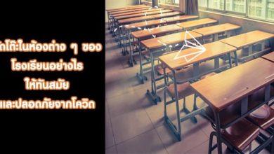 จัดโต๊ะในห้องต่าง ๆ ของโรงเรียนอย่างไรให้ทันสมัยปลอดภัยจากโควิด
