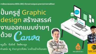 คลิปอบรมออนไลน์ Graphic design สร้างสรรค์งานออกแบบง่าย ด้วยแอพ Canva